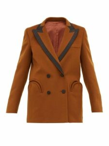 Blazé Milano - Chinook Double Breasted Wool Blend Blazer - Womens - Brown