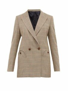 Blazé Milano - Bonhomme Everyday Houndstooth Wool Blazer - Womens - Brown Multi
