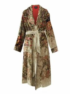 Etro - Surrey Floral Pattern Velvet Coat - Womens - Beige Multi