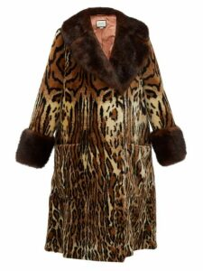 Gucci - Leopard Print Faux Fur Coat - Womens - Leopard