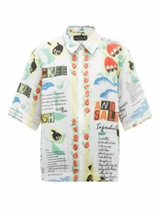 Martine Rose - Ackee And Saltfish Print Linen Shirt - Womens - White Multi