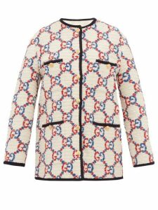 Gucci - Gg Bouclé Tweed Jacket - Womens - White Multi