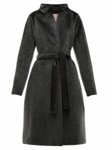 Herno - Stand Collar Faux Fur Coat - Womens - Black