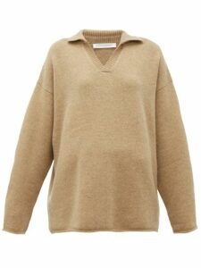 Extreme Cashmere - No. 101 Jules Open Collared Cashmere Blend Sweater - Womens - Camel