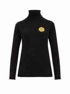 Bella Freud - Happy Roll Neck Cashmere Blend Sweater - Womens - Black Yellow