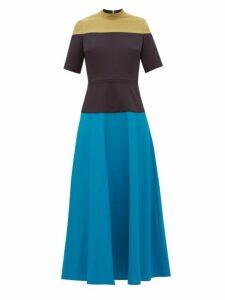 Roksanda - Mauna Panelled Cady Midi Dress - Womens - Multi