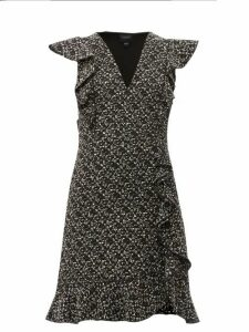 Giambattista Valli - Ruffled Bouclé Mini Dress - Womens - Black Multi