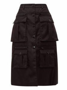 Prada - Statement Pocket Nylon Cargo Skirt - Womens - Black
