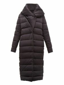 Herno - Bon Bon Shawl Collar Nylon Coat - Womens - Black