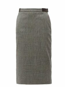 Altuzarra - Bolan Prince Of Wales Checked Wool Blend Skirt - Womens - Black White
