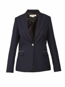 Golden Goose - Venice Crystal Embellished Single Breasted Blazer - Womens - Navy