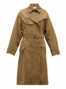 Isabel Marant Étoile - Gabao Belted Cotton Trench Coat - Womens - Khaki