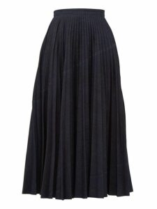 Valentino - Pleated Denim Skirt - Womens - Denim