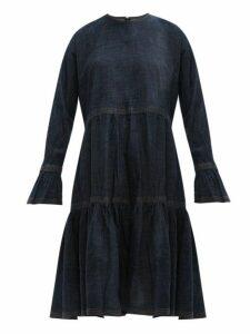 Valentino - Tiered Cotton Denim Dress - Womens - Denim
