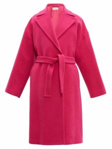 Balenciaga - Oversized Camel Hair Blend Coat - Womens - Pink