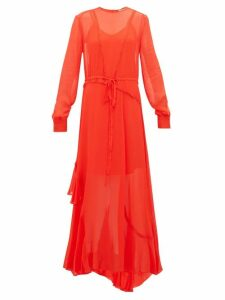 Preen Line - Brea Lace Trimmed Georgette Maxi Dress - Womens - Red