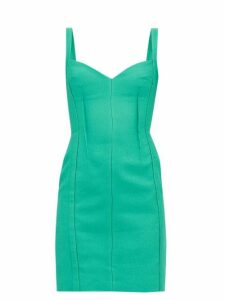 Emilia Wickstead - Fyfe Cloqué Mini Dress - Womens - Green