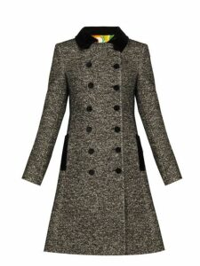 Dolce & Gabbana - Double Breasted Bouclé Tweed Coat - Womens - Grey Multi