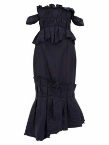 Brock Collection - Piermaria Ruched Chambray Dress - Womens - Navy