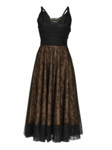 Rochas - Pralina Chantilly Lace And Tulle Dress - Womens - Black