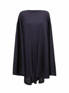 Pleats Please Issey Miyake - Sleeveless Oversized Pleated Dress - Womens - Navy