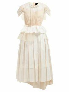 Simone Rocha - Beaded Taffeta, Lace And Tulle Midi Dress - Womens - Ivory Multi