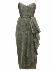 Maria Lucia Hohan - Marie Sweetheart Neckline Metallic Dress - Womens - Dark Grey