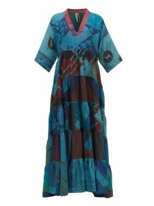 Rianna + Nina - Vintage Patchwork Silk Dress - Womens - Multi
