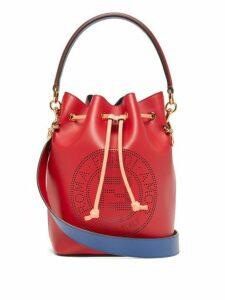 Fendi - Mon Tresor Ff Leather Bucket Cross Body Bag - Womens - Red Multi