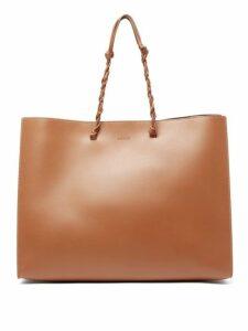 Jil Sander - Tangle Medium Woven Handle Leather Tote - Womens - Tan