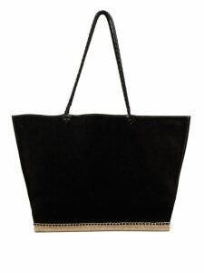 Altuzarra - Espadrille Suede Tote Bag - Womens - Black