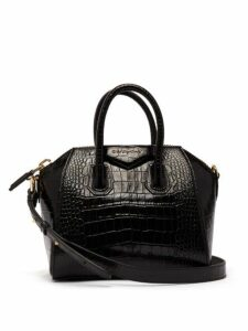 Givenchy - Antigona Mini Lizard-effect Leather Bag - Womens - Black