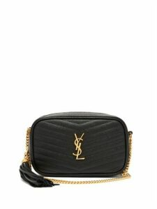 Saint Laurent - Lou Mini Leather Cross Body Bag - Womens - Black