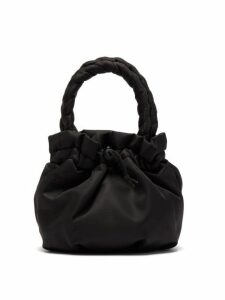 Staud - Stella Plaited Handle Drawstring Bag - Womens - Black