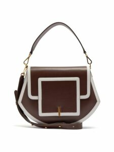 Wandler - Al Smooth Leather Cross Body Bag - Womens - Brown Multi