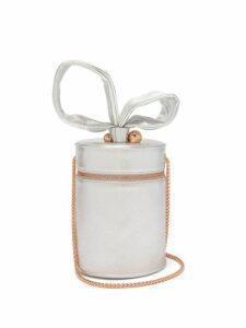 Sophia Webster - Bonnie Metallic Leather Cylinder Bag - Womens - Silver