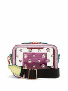 Sophia Webster - Dina Crystal Metallic Leather Camera Bag - Womens - Multi