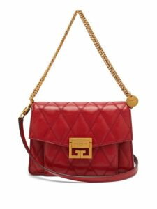 Givenchy - Gv3 Small Quilted Leather Cross Body Bag - Womens - Red