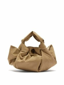 The Row - The Ascot Cotton Clutch Bag - Womens - Beige