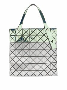 Bao Bao Issey Miyake - Platinum Mermaid Two Tone Tote Bag - Womens - Silver Multi