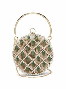 Rosantica By Michela Panero - Gautier Crystal Embellished Cage Clutch - Womens - Crystal Multi