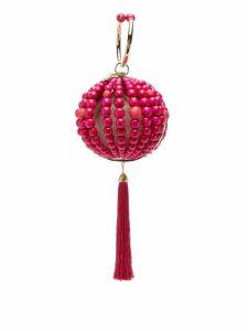Rosantica By Michela Panero - Billie Beaded Tassel Drop Clutch Bag - Womens - Pink Multi