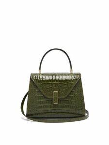 Valextra - Iside Mini Crocodile Leather Bag - Womens - Green