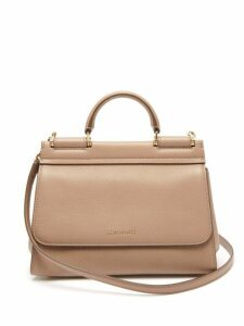 Dolce & Gabbana - Sicily Small Leather Bag - Womens - Beige