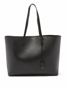 Saint Laurent - East West Medium Leather Tote - Womens - Black