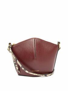 Alexander Mcqueen - The Bucket Mini Leather Cross Body Bag - Womens - Burgundy Multi