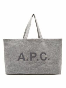 A.p.c. - Suzanna Oversized Felt Tote Bag - Womens - Grey