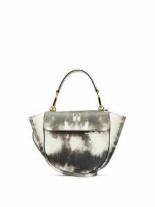 Wandler - Hortensia Mini Leather Cross Body Bag - Womens - Grey White