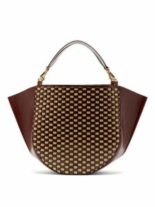 Wandler - Mia Large Woven Leather Tote Bag - Womens - Red Multi