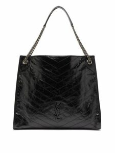 Saint Laurent - Niki Large Quilted Tote Bag - Womens - Black
